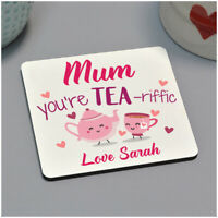 Birthday Christmas Xmas Gifts for Her Mum Nanny PERSONALISED Drinks Tea Coaster