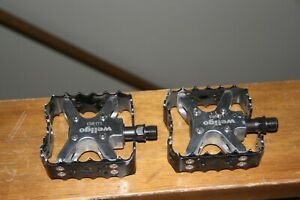 "Old School WELLGO LU-953 BEAR TRAP PEDALS BMX MOUNTAIN BIKE TRAIL MTB VTG 1/2"""