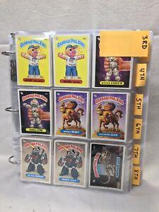 1987 Garbage Pail Kids Serie 7th serie set completo 88 conjunto de variación de tarjeta 1987