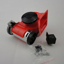 12V Compact Car Snail Dual Tone Electric Pump Siren Loud Air Horn Truck STOCK