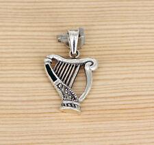 Anhänger Schmuck Silber - Emaille - Markasit -  Keltische Harfe