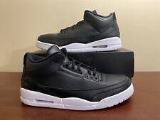 """Men's Air Jordan 3 Retro """"Cyber Monday"""" Size 16 (136064-020) Black White"""