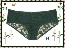 L Large DK GREEN Victorias Secret Ruched FULL Back Lace Stretch Hiphugger Pantie