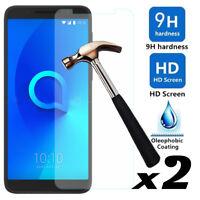 2Pcs 9H Premium Tempered Glass Screen Protector For T-Mobile REVVL 2/Alcatel 3