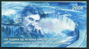 Serbia & Montenegro Booklet 2006 150th Anniversary Nikola Tesla Block MNH
