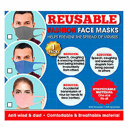 Reusable assorted Stretchable Spandex Face Mask Blue