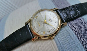 Vintage Swiss Longines automatic men's watch, 14k solid gold, 22A, 35mm, runs