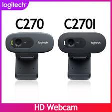 Original Logitech C270 C270I HD Webcam 720p Built-in Microphone for video chat