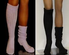 2 Flawed Slouch Socks Lilac Black Long Sexy Warm Comfy Scrunchie Soccer