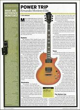 Fernandes Monterey Elite Electric Guitar 8 x 11 sound test check review article