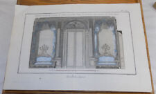 1762 Antique COLOR Print///VIEW OF FRONT OF SALON IN ROYAL PALACE, FRANCE