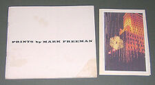 MARK FREEMAN Texture Prints & Lithographs 1964 Limited Edition Bk & Signed Cards
