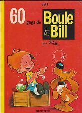 ROBA. Boule et Bill n°3. Dupuis 1976. Dos jaune carré.