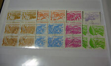 Lot54a - NICARAGUA AGRARIAN Agriculture 1983 SET (8) Blocks 4 USED ~ NOT HINGED