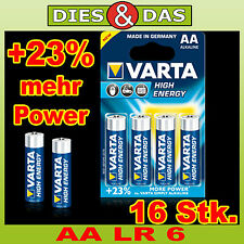 Varta Batteria Aa 16 pz. HIGH ENERGY LR6 Batterie AA Varta AA