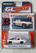 GREENLIGHT GL MUSCLE SERIES 3 1967 CHEVROLET CORVETTE 427 Ermine white