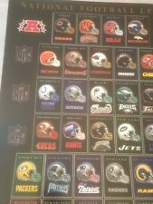 National Football League Helmet Poster 49Ers Packers Saints Steelers Rams Jets