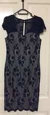Gorgeous Lace Dress Navy  Size 12