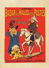 Bazar des Halles et Postes by Fernel Fernand 90cm x 64cm Art Paper Print