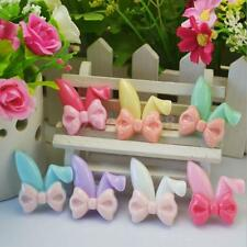 16 Mixed Resin Bow Rabbit Ears Flatback Cabochons for Phone Hair Bow Craft