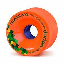 Orangatang Durian 75 mm 80a Freeride Longboard Skateboard Wheels Orange Set of 4