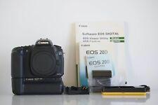 Canon Eos 20D battery grip BG E2 lens EFS 18-55