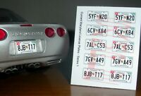 CURRENT STYLE MARYLAND miniature LICENSE PLATES for 1/25 scale MODEL CARS