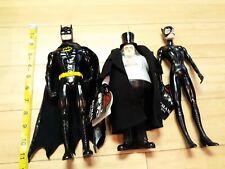 """BATMAN RETURNS Set of 11"""" Vinyl Action Figures Catwoman Penguin Applause 1992"""