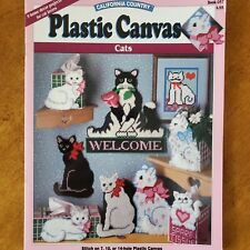 California Country Plastic canvas Pattern Book CATS home decor projects