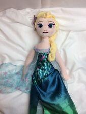 "Disney Frozen Elsa Doll Plush - 19"" Satin Dress Toy Kids Friend"