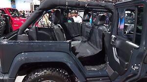 2007-17 Wrangler JEEP   Pet Dog Seat Door Panel Cover Back Rear Protector Bridge