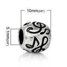 """Barrel """"Musical Note Pattern"""" Charm Bead  for Most European Snake C..."""