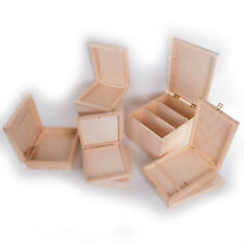 Selection of Wooden CD Storage Boxes / Plain Pinewood / Box with Lid / Decoupage