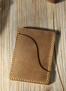 men women wallet purse cow Leather Card bag Case holder customize beige Z723