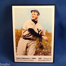 Christy Mathewson, New York, ArtCard #16 - Baseball card of HOF player c.1900's