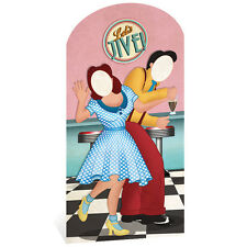 1950s DINER Couple STAND-IN CARDBOARD CUTOUT Standup Standee Standin Fifties F/S