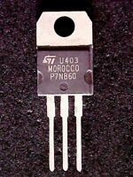 STP7NB60 - ST Microelectronics MOSFET P7NB60 (TO-220) GENUINE