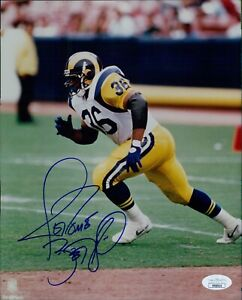 Jerome Bettis Los Angeles Rams Signed 8x10 Glossy Photo JSA Authenticated