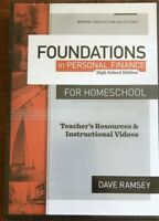 Foundations in Personal Finance High School Edition for Homeschool DVD NEW