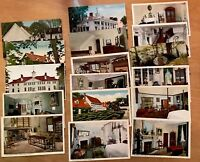 Lot of 17 Vintage Mt. Vernon, Virginia Early 1900s Postcards Library Kitchen