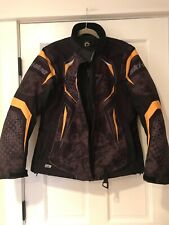 Euc! Ski-Doo Snowmobile Bpr Womens Ladies  Jacket/Coat Medium Black Yellow