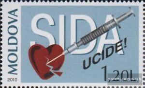 Moldawien 708 (completa edición) nuevo con goma original 2010 lucha contra sida