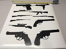Guns vinyl decal stickers bundle of 11 rifle firearm hunting revolver carbine