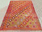 """Vintage Turkish Rugs, Wool Kilim, Tribal Rug Tapis 60""""X81"""" Area rug Kelim Carpet"""