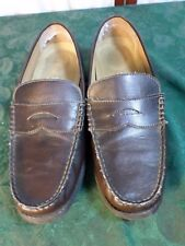 Men's Penny Loafer Brown Slip On Shoes-Size 10 1/2