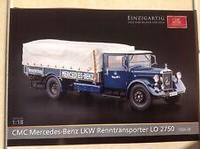 CMC Prospekt Mercedes Benz LKW Renntransporter  LO 2750  1934 - 1938 1:18 Neu