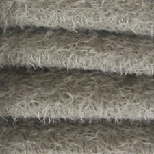 "1/6 yd 300S/CM Pewter INTERCAL 1/2"" Ultra-Sparse Curly Matted Mohair Fabric"