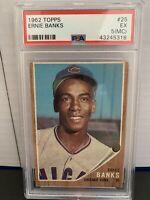 1962 Topps Ernie Banks Chicago Cubs #25 PSA 5