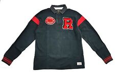 Rugby Ralph Lauren State Champs Patch Football Long Sleeve Polo Size L Vintage