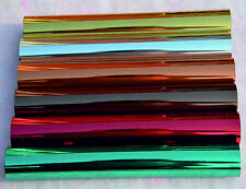 TEXTILE FOIL Fabric Metallic Gold Silver Red Copper Bronze Green Hot  Transfer